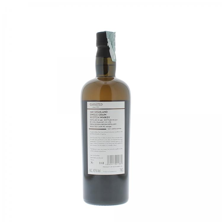 Samaroli Invergordon Distillery Highland Single Grain Scotch Whisky 1987